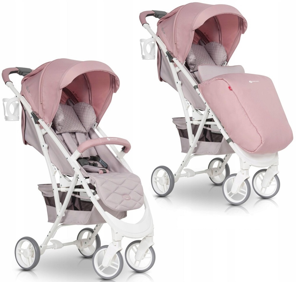 EURO-CART VOLT PRO WÓZEK SPACEROWY DO 22KG POWDER PINK