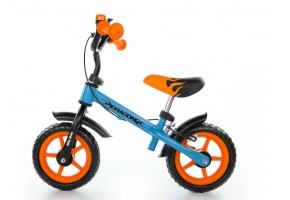 "MILLY MALLY ROWEREK BIEGOWY DRAGON 10"" BLUE-ORANGE"