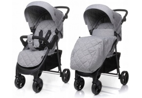 WÓZEK SPACEROWY 4BABY RAPID 2019 LIGHT GREY