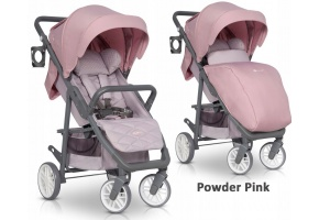 EURO-CART FLEX WÓZEK SPACEROWY DO 22KG POWDER PINK